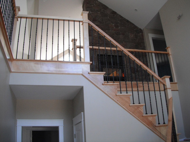 Wood Stairs Canada Plain Amp Twist Metal Balusters