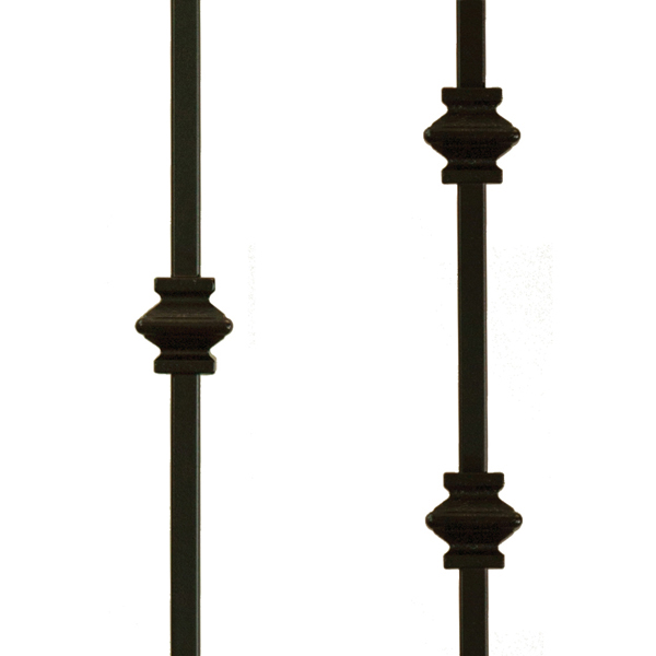 Knuckle Metal Balusters (Wood Stairs Canada)