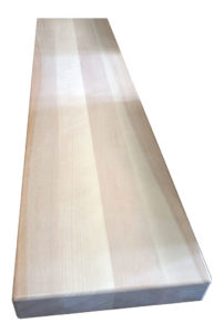 "2-1/2"" Birch Face grain style stair tread"
