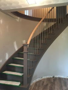 Curved Staircase (Wood Stairs Canada)